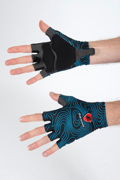 Terrain Blue Summer Gloves - Lusso Cycle Wear