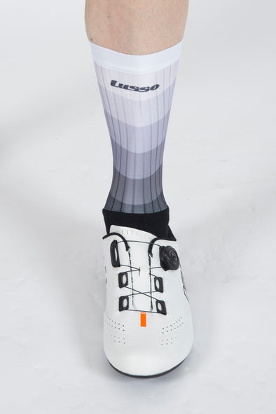 Waves Grey Active Aero Socks - Lusso Cycle Wear
