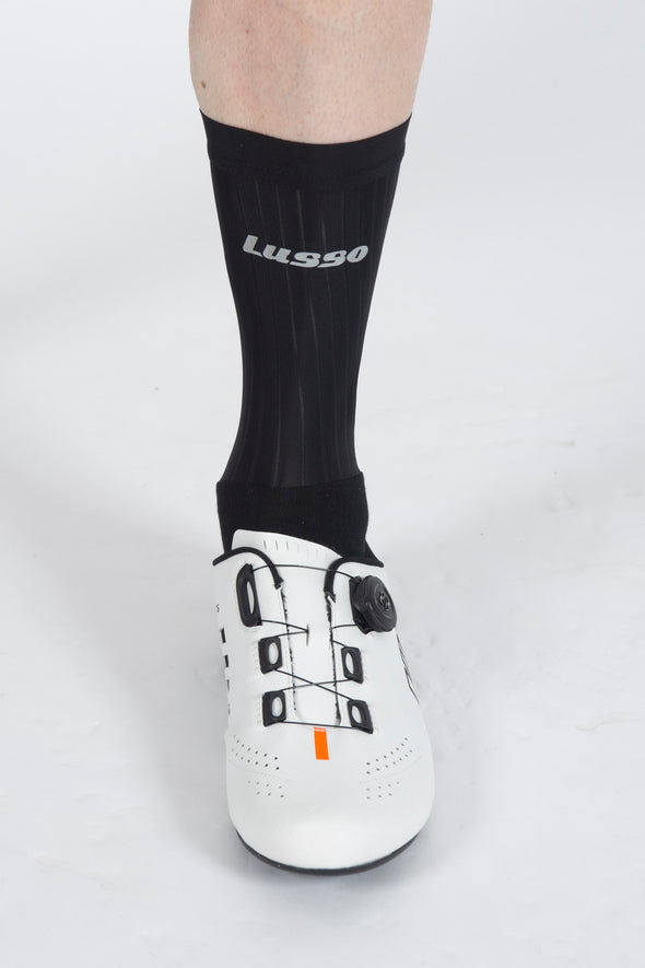 Black Active Aero Socks - Lusso Cycle Wear