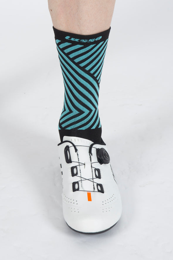 SoftAir Blue/Black Socks - Lusso Cycle Wear