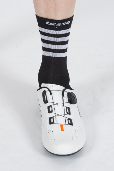 SoftAir Socks Classic Black Stripes - Lusso Cycle Wear
