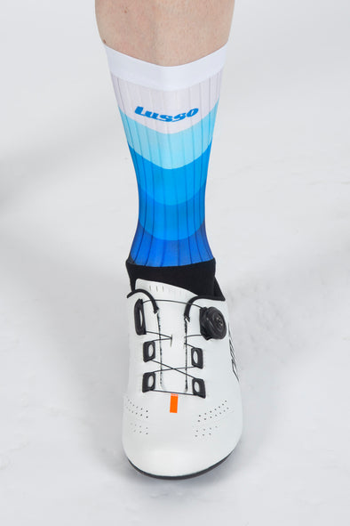 Waves Blue Active Aero Socks - Lusso Cycle Wear