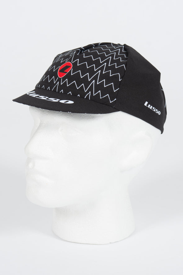 Zig Zag Black Cycle Cap - Lusso Cycle Wear