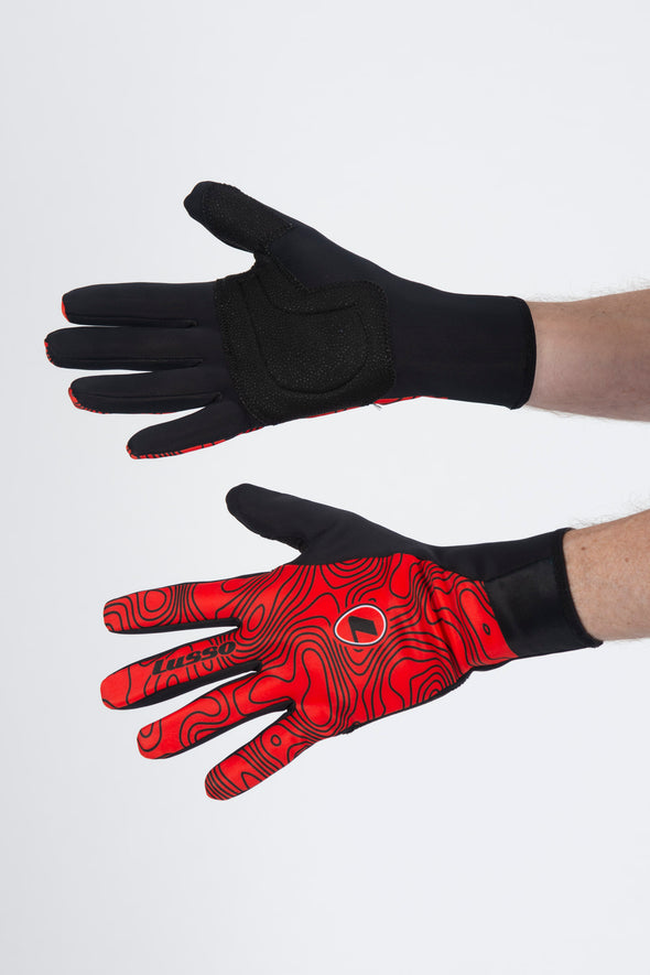 Terrain Red Windtex Thermal Stealth Gloves - Lusso Cycle Wear