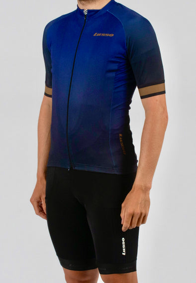 Fade Navy/Gold Short Sleeve Jersey - Lusso Cycle Wear