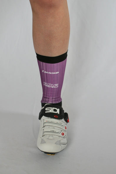 Purple Active Aero Socks - Lusso Cycle Wear