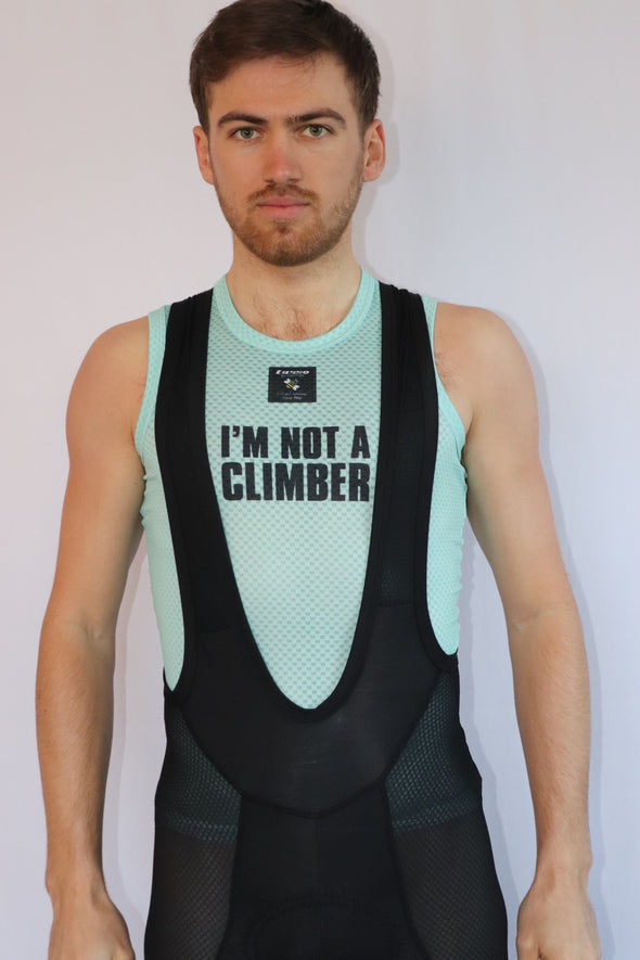 I'm Not a Climber Eco Summer Base layer- mint green - Lusso Cycle Wear
