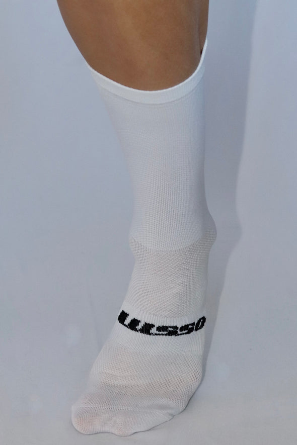 Bike Addict Summer Socks- White - Lusso Cycle Wear