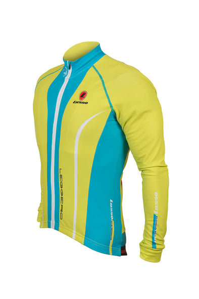 Leggero Thermal Jersey Lime - Lusso Cycle Wear