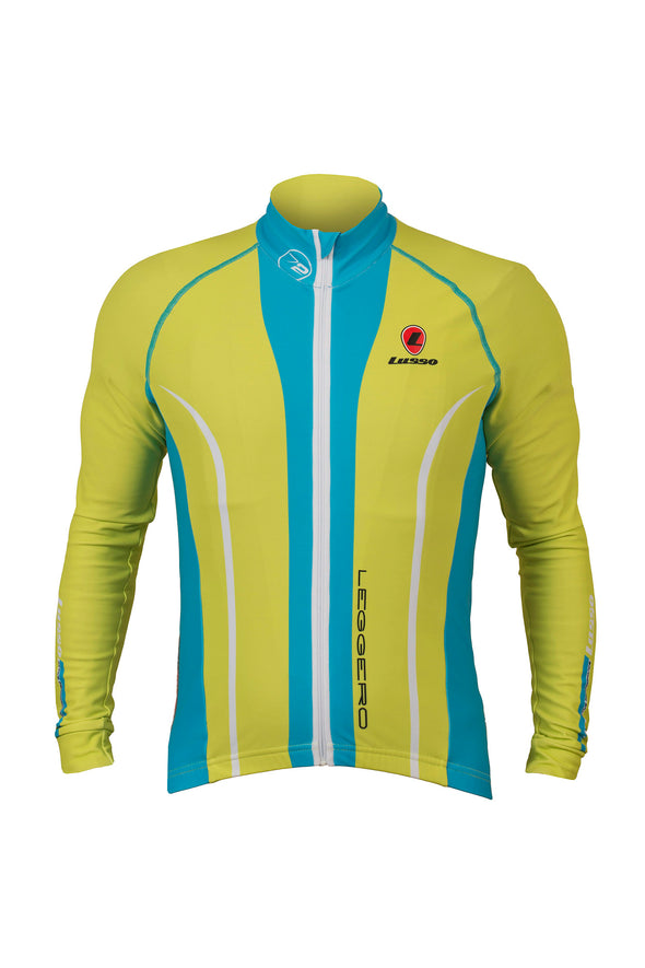 Leggero Thermal Jacket Lime - Lusso Cycle Wear
