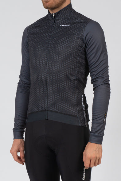 Momentum Long Sleeve Jersey Black - Lusso Cycle Wear