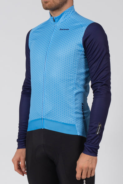 Momentum Long Sleeve Jersey Blue - Lusso Cycle Wear