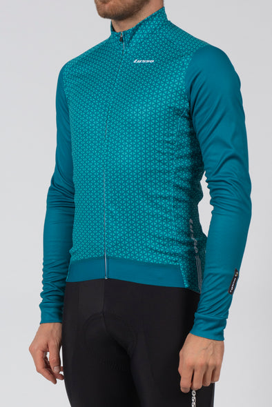 Momentum Long Sleeve Jersey Teal - Lusso Cycle Wear