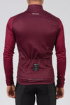 Momentum Long Sleeve Jersey Plum - Lusso Cycle Wear