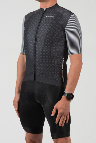 Momentum S/S Jersey Black/Grey - Lusso Cycle Wear