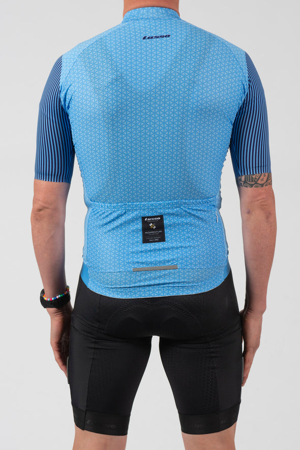 Momentum S/S Jersey Blue - Lusso Cycle Wear