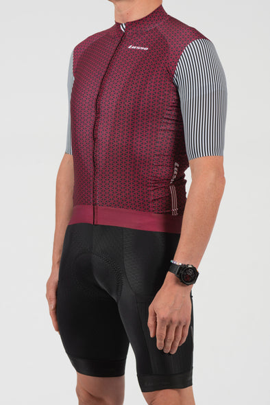 Momentum S/S Jersey Plum - Lusso Cycle Wear