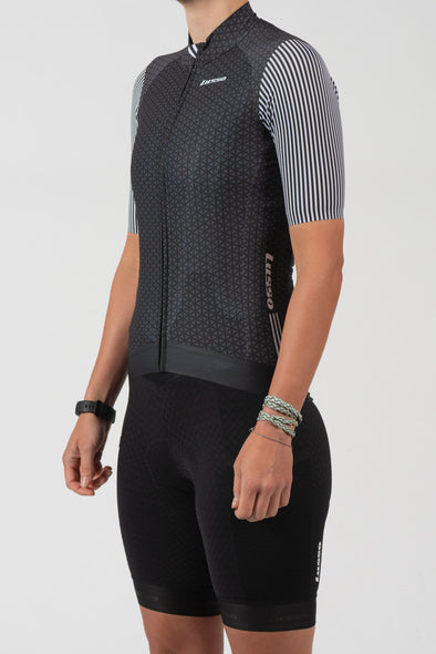 Momentum S/S Jersey Black/Grey - Womens