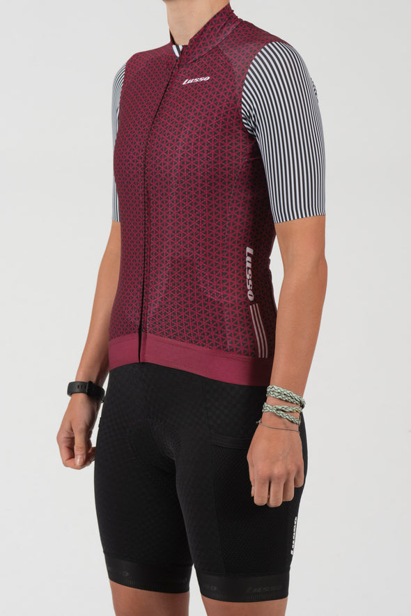Momentum S/S Jersey Plum - womens - Lusso Cycle Wear
