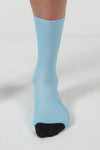 Momentum Soft Feel printed sock - Blue - Lusso Cycle Wear
