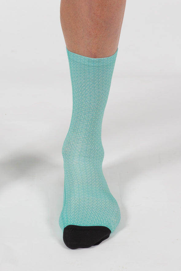 Momentum Soft Feel printed sock - Teal - Lusso Cycle Wear