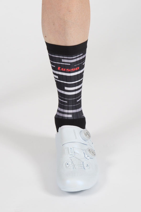 Black Dash Active Aero Socks - Lusso Cycle Wear