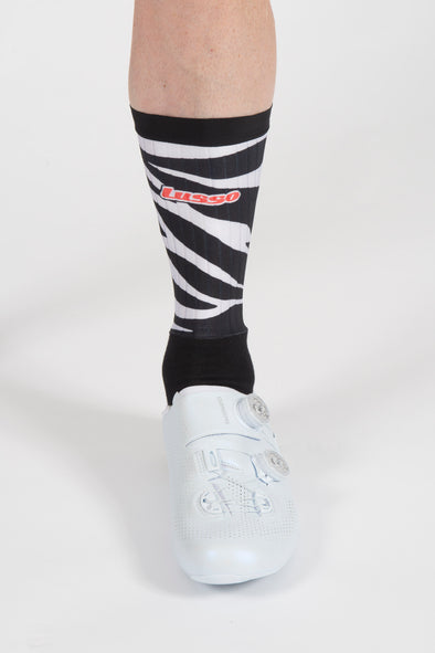 Zebra Active Aero Socks - Lusso Cycle Wear