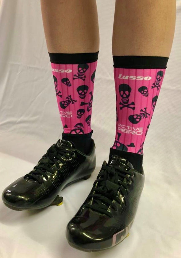 Candy Skulls Active Aero Socks - Lusso Cycle Wear