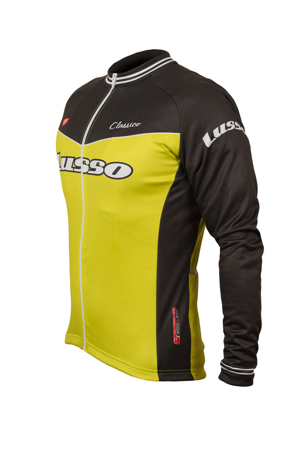 Classico L/S Jersey Lime - Lusso Cycle Wear