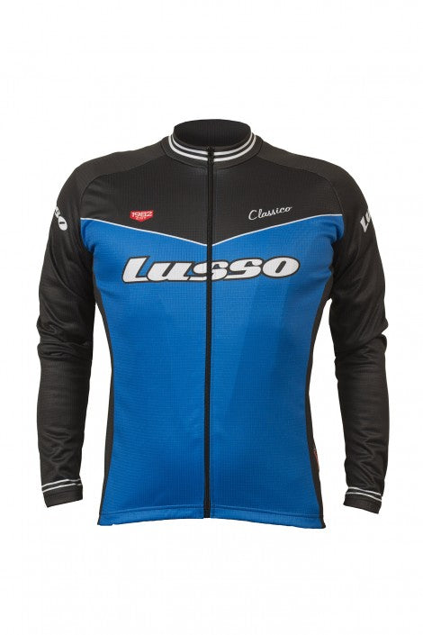 Classico L/S Jersey Blue - Lusso Cycle Wear
