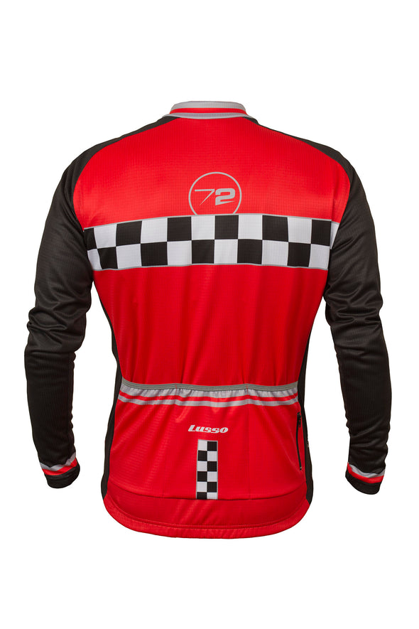 Evolve L/S Jersey Red - Lusso Cycle Wear