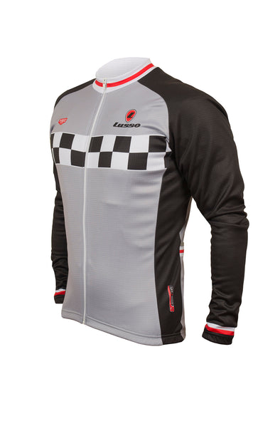 Evolve L/S Jersey Grey - Lusso Cycle Wear
