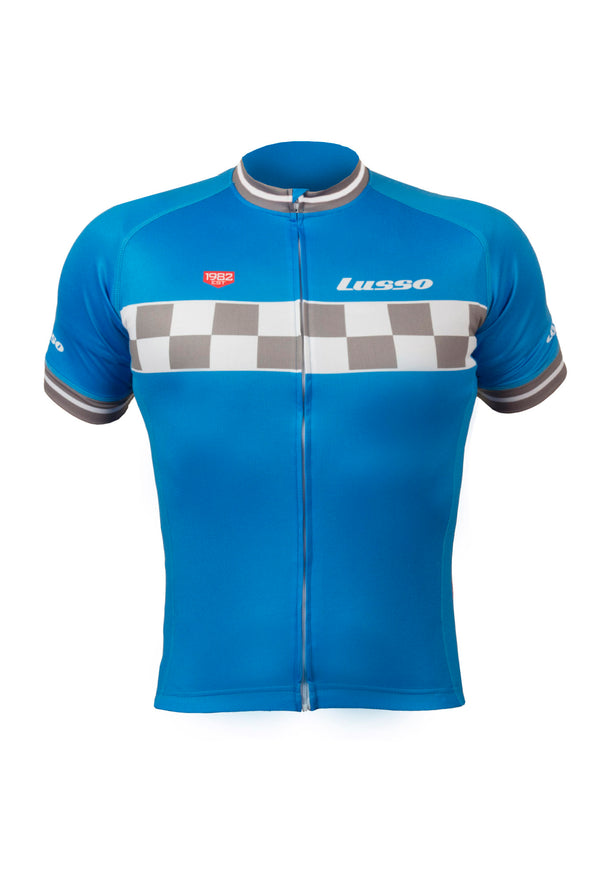 Evolve S/S Jersey Blue - Lusso Cycle Wear