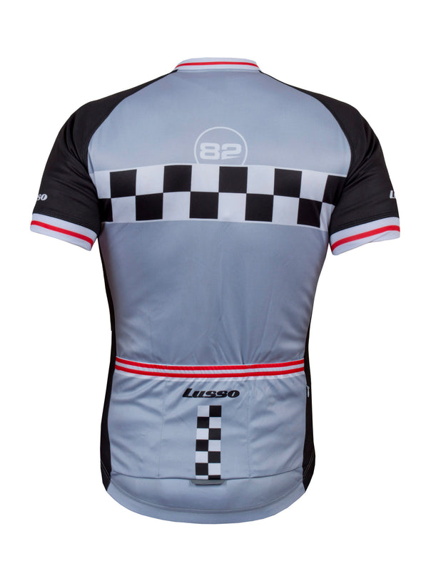 Evolve S/S Jersey Grey - Lusso Cycle Wear