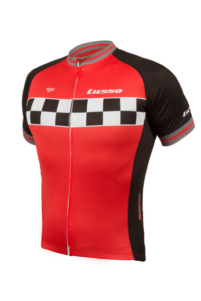 Evolve S/S Jersey Red - Lusso Cycle Wear