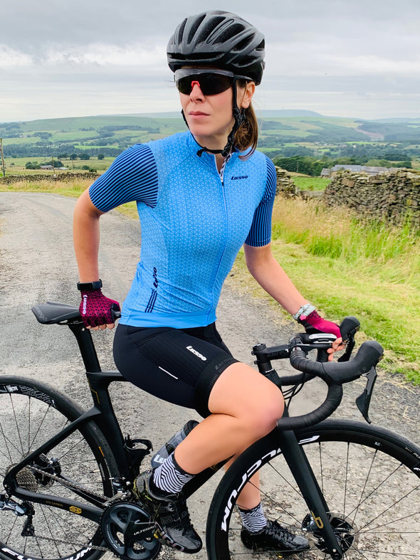 Momentum S/S Jersey Blue - Womens - Lusso Cycle Wear