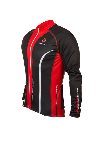 Leggero Thermal Jersey Black - Lusso Cycle Wear