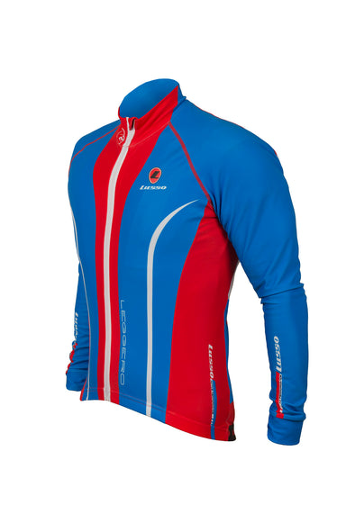 Leggero Thermal Jacket Blue - Lusso Cycle Wear