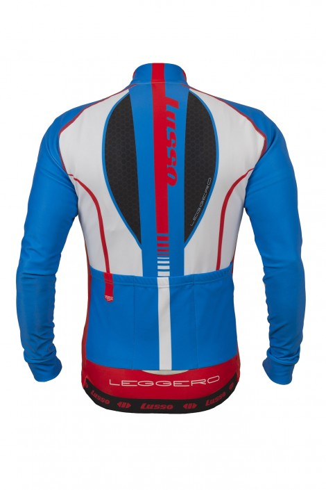 Leggero Thermal Jersey Blue - Lusso Cycle Wear