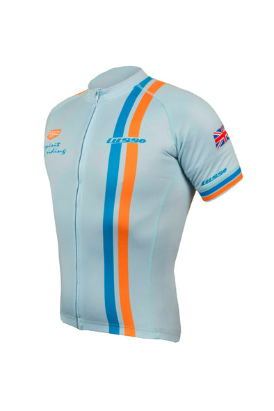 Le Mans S/S Jersey Blue - Lusso Cycle Wear