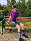 Purple Zebra Active Aero Socks - Lusso Cycle Wear