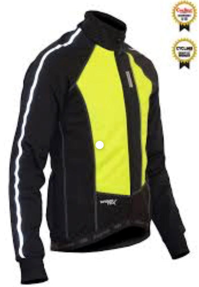 Windtex Aero+ Thermal Jacket Flo Yellow - Lusso Cycle Wear