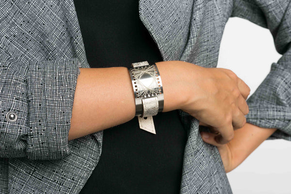 SEARY steel-light gold cuff