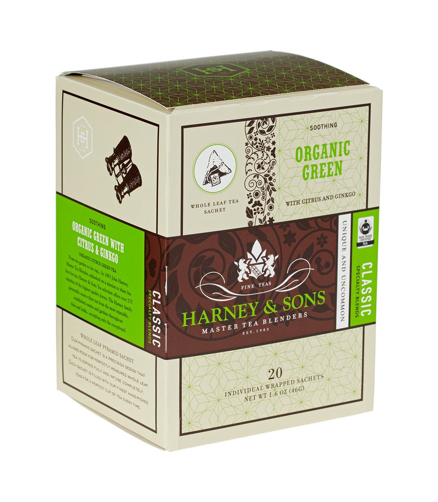 Harney & Sons Organic Green with Citrus and Ginkgo