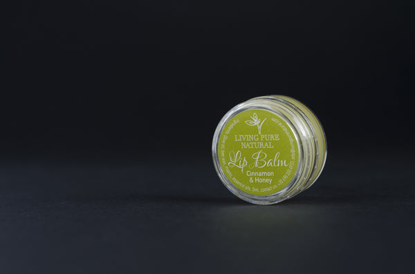 Living Pure Natural Lip Balm Cinnamon and Honey - Living Pure Natural