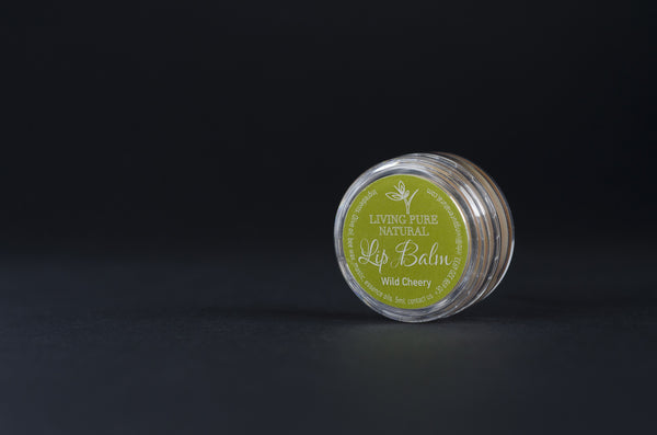 Living Pure Natural Lip Balm Wild Cherry - Living Pure Natural