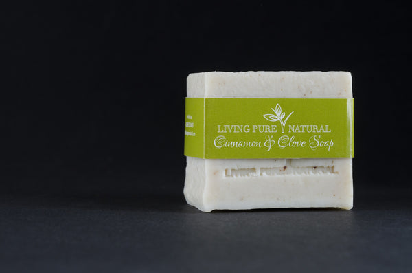 Living Pure Natural Body Soap with Cinnamon and Clove - Living Pure Natural