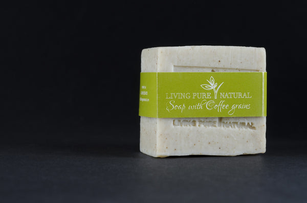 Living Pure Natural Body Soap with Coffee Grains - Living Pure Natural