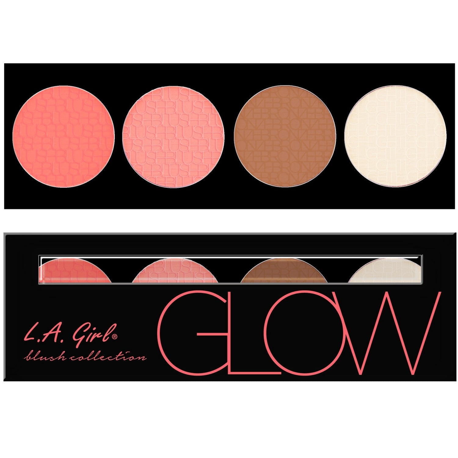 La Girl Beauty Brick Blush Collection Christine And Camille Eye Shadow