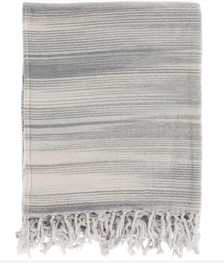 Woven Fringe Gray, Light Gray, Charcoal, Ivory